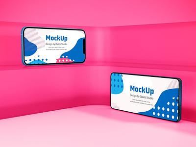 Phone Devices Mockups website webpage web ux ui presentation theme macbook mac laptop display simple clean realistic phone mockup smartphone device mockup abstract phone