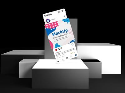 Instagram Display Screens Mockups webpage web ux ui presentation theme macbook mac laptop display simple clean realistic phone mockup smartphone device mockup abstract phone instagram
