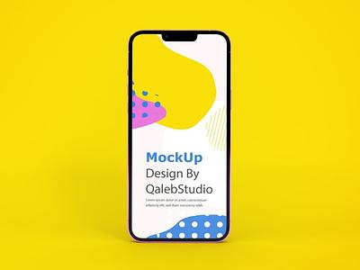 iPhone 13 Mockups web ux ui presentation theme display simple clean realistic phone mockup smartphone device mockup abstract phone apple 13 iphone 13 mockup iphone 13 iphone