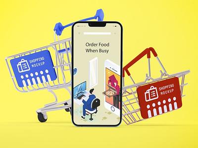 iPhone 13 Shopping Mockups ux ui presentation theme display simple clean realistic phone mockup smartphone device mockup abstract phone shopping shop apple iphone 13 pro iphone 13 iphone