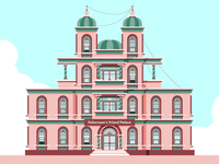 Fisherman's Friend Palace color vector windows sky ilustrator colors museum casino hotel palace castles chateau mansion maison castle building house friend