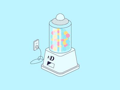 Candy Machine Dispenser art design shadow texture pattern lines illustration illustrator vector color machine candy