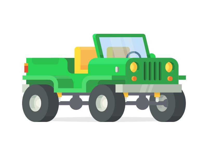 Adventure Jeep vehicle draw 3d icon vector mountain jungle 4wd wheels truck adventure jeep