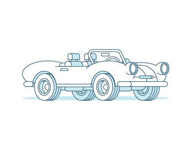 A Tiny Coupe Sport Car drawing work office perspective vector color art design shadow line vehicle car