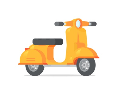 The Scooter vehicle city art design color vector 3d ride motorbike bike scooter