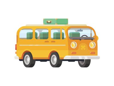 The Van 3d vector color car vehicle sticker van
