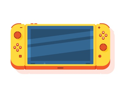 Nintendo Switch summer spring console 3d perspective design color vector switch videogames game nintendo