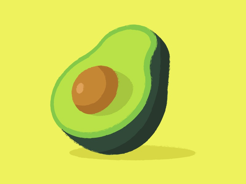 Palta tape sticker vector draw color vegetables avocado