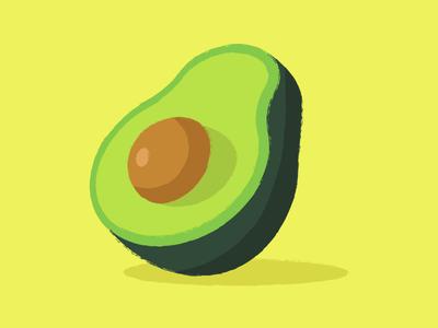 Palta tape sticker vector draw color vegetables avocado