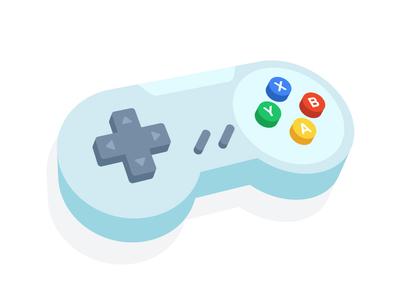 Joystick color art play nintendo 3d illustration design vector videogame game controller joystick