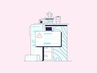 Long Form Content error 404 error paper coffee camera plant illustrator texture design color vector