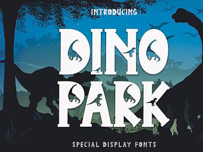 Dino Park ui illustration design logo font design branding handwritten font