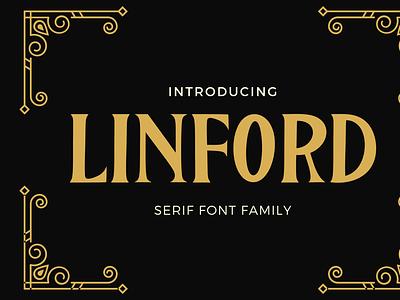 Linford ui illustration design beautiful logo font design branding font