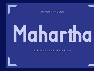 Mahartha ui illustration design logo beautiful font design branding font