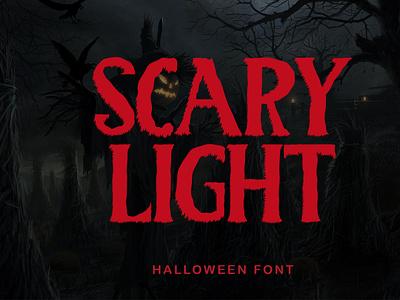Scary Light font script design beautiful handwritten illustration font design ui animation 3d graphic design motion graphics branding logo