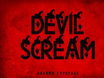 Devil Scream poster print logos bold witch pumpkin sticker sublimation fall procreate christmas kdp svg halloween font