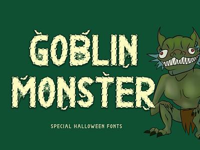 Goblin Monster procreate sublimation svg font halloween halloween poster banner logos monster scary display font