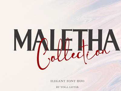 Maletha Collection sub procreate sublimation svg fall potography wedding sticker elegant halloween christmas signature serif font duo font logo