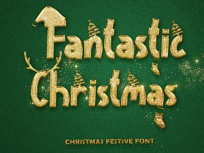 Fantastic Christmas font design handwritten beautiful animation graphic design branding birthday wedding baby sub fall sticker sublimation procreate kdp svg christmas svg christmas font logo