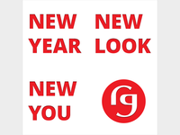 New Year, New Look, New You 2018 postcard design (unused)