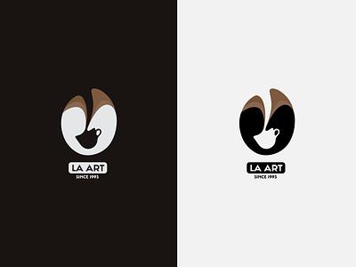 Latte Art Logo Design Located In LA vector logo illustration design branding