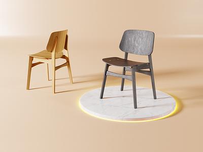 Fredericia Søborg Chair Modeled in Blender blender3d 3d modeling modeling 3d art design