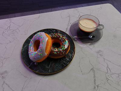 You gotta start with the Donut! 3dart 3d 3dmodeing donut design blender3d