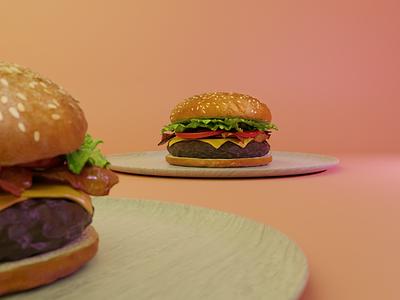 Burger made in Blender burger blendercycles 3dart blender3d