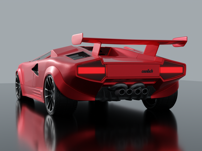 The First Car I Modeled in Blender - Lamborghini Countach mariouranjek lamborghini 3d art 3d modeling