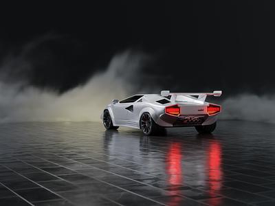 Lamborghini Countach uranjek design mario uranjek blender3d 3d modeling 3d art