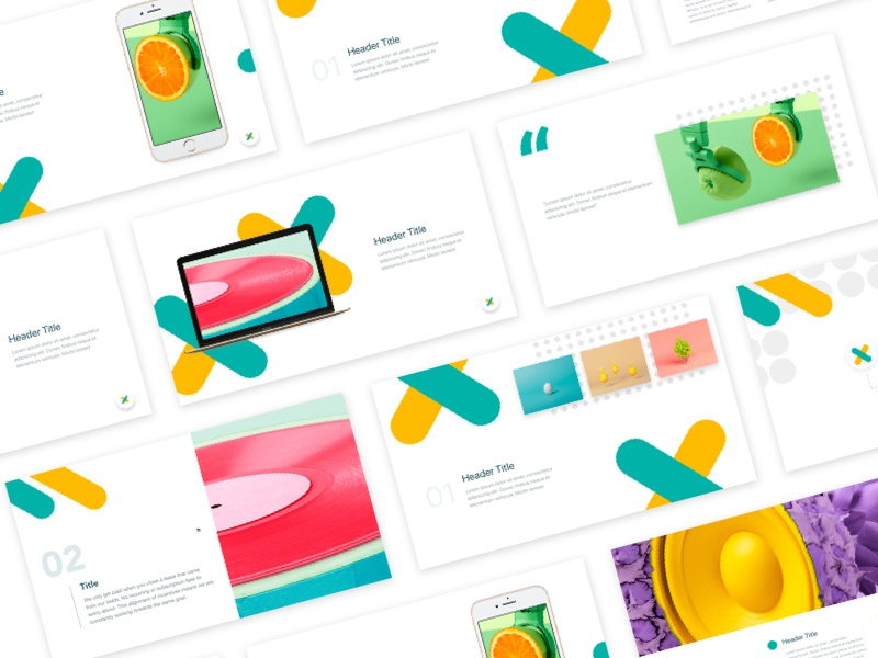 Spark Presentation Template graphic design branding marketing keynote presentations