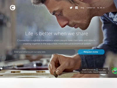 Cronnection Landing Page landing one page site one page landing landing page parallax