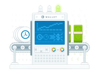 Cronnection Wallet Illustration robot pixel art illustration
