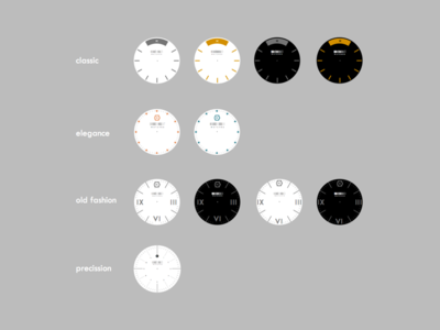 Dials grid composition geometry minute hour clock time watch