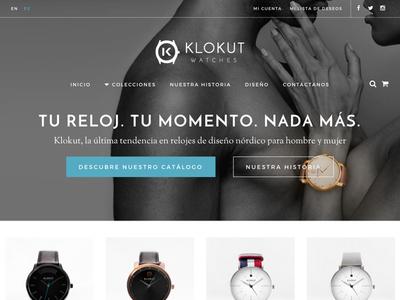 Klokut Watches photo black white blue grey prestashop ecommerce watches