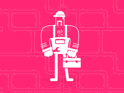 Sexy maintenance mode sketch toolbox white transparency illustration pink fucsia handyman wrench maintenance mode maintenance