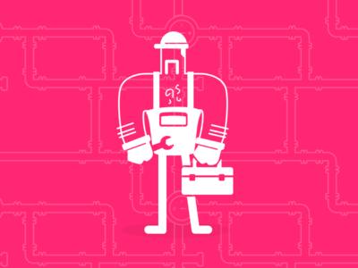 Sexy maintenance mode sketch toolbox white transparency illustration pink fucsia handyman wrench maintenance mode maintenance
