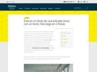 Yellow blog header