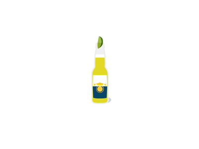 Corona Extra rebound beer yellow blue bottle lime summer