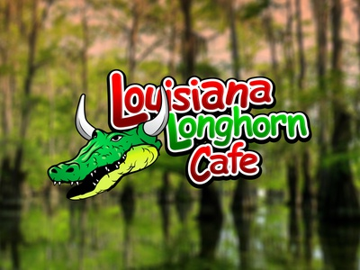 Cajun Cafe Logo illustration alligator swamp creole cajun gumbo illustrator