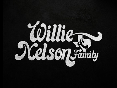 Willie Outtake textured vector illustrator typography logo