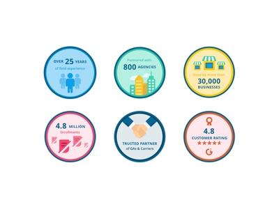 Sales badge illustration