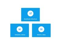card UI flat design