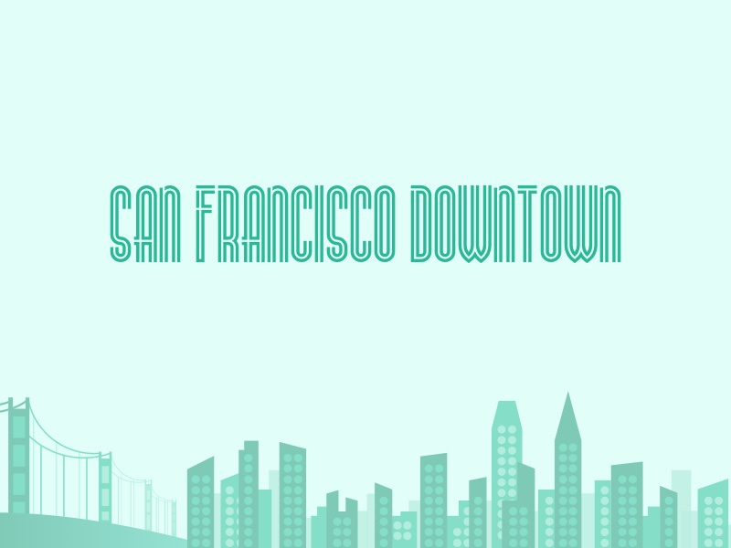 san francisco downtown artdeco abstract illustration landscape citylandscape downtown sanfrancisco sf