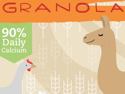 Granola WIP vector llama cereal illustration wholesome healthy