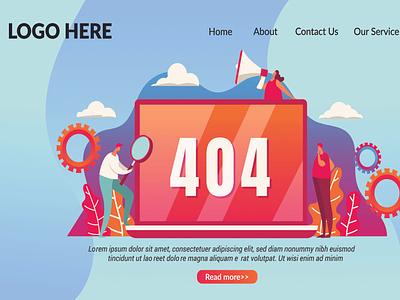 404 Not Found Error Web Page Design uiux landing page web site web page error page not found error 404