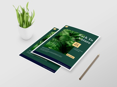 Nature Magazine Flyer Design ux branding vector design typography illustration psd ai business flyer modern flyer design