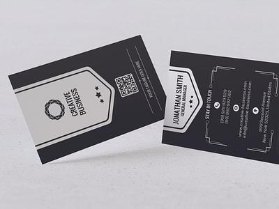 Modern Business Card Design branding vector design typography illustration visa card id card ai psd dark black card design business visiting card business card