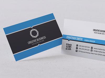 Modern Business Card Design t-design branding vector design typography illustration psd ai business design visa card id card visiting card business card black blue