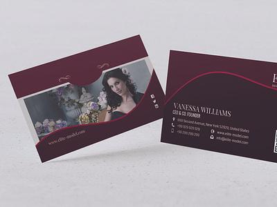 Modern Business Card Design t-design branding vector typography illustration beauty design template visiting card business card